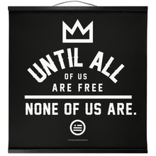 "Load image into Gallery viewer, ""None Of Us"" Hanging Canvas Print - Black"