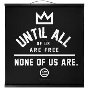 """None Of Us"" Hanging Canvas Print - Black"