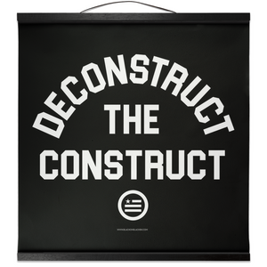 """Deconstruct The Construct"" Hanging Canvas Print - Black"