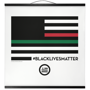 """A Thin Red, Black and Green Line"" Hanging Canvas Print"