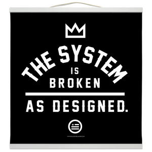 """As Designed"" Hanging Canvas Print - Black"