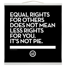 "Load image into Gallery viewer, ""Not Pie"" Hanging Canvas Print - Black"