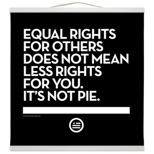 """Not Pie"" Hanging Canvas Print - Black"