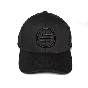 """The Stack/BXB"" Black- Snapback - Spacer Mesh"