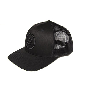 """The Stack"" - Trucker Snapback (Black Logo)"