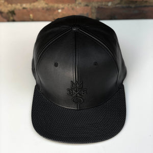 """BXB CRWN"" Leather Cubic Snapback"
