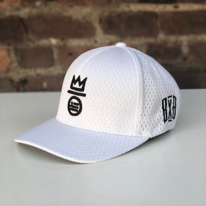 """BXB CRWN"" Flexfit - Athletic Mesh White"