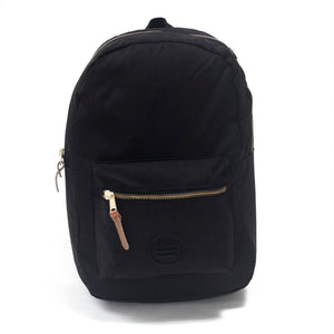"Black On Black Backpack - ""The Stack"""