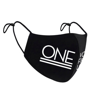 """One Love"" - Cotton Face Mask"