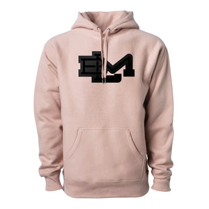 BLM:Monogram v2 - Premium Cross-Grain Hoodie (Dusty Pink)