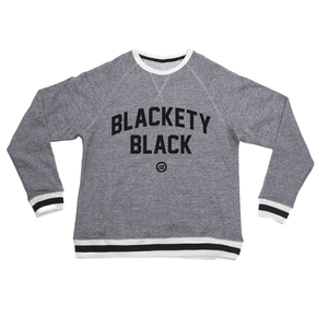"""Blackety v2"" - Unisex Peppered Crewneck Sweatshirt"