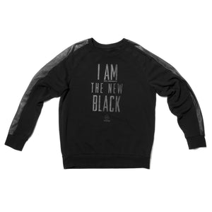 "LIMITED EDITION: ""NEW BLACK"" - Unisex Sweatshirt Black/BlackLeather"