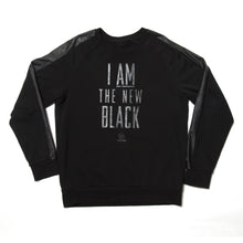 "Load image into Gallery viewer, LIMITED EDITION: ""NEW BLACK"" - Unisex Sweatshirt Black/BlackLeather"