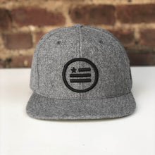 "Load image into Gallery viewer, ""The Stack"" - Melton Wool Heather Snapback"
