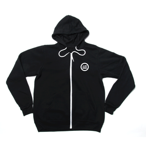 """Deconstruct The Construct"" - Unisex Zip-Up Hoodie Black"