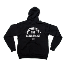 "Load image into Gallery viewer, ""Deconstruct The Construct"" - Unisex Zip-Up Hoodie Black"
