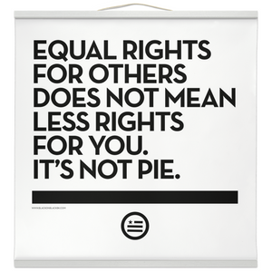 """Not Pie"" Hanging Canvas Print - Bright"