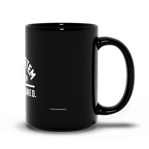 """As Designed"" Mug Black"