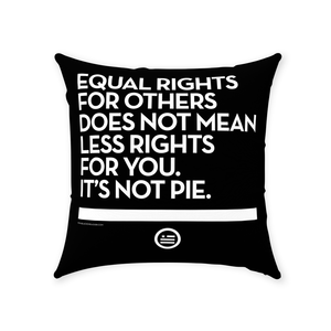 """Not Pie"" Throw Pillows"
