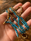 Two Tone Long Bead Necklace