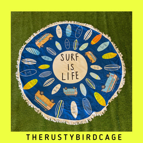 🏄‍♀️ Round Beach Towel