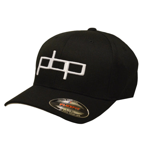 Poor Boyz Productions embroidered Flexfit Cap - White on Black