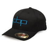 Poor Boyz Productions embroidered Flexfit Cap - Sky Blue on Navy