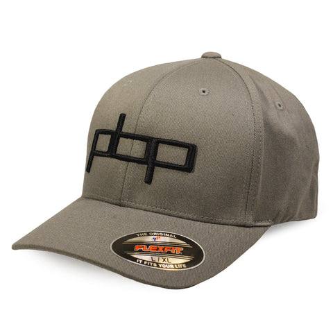 Poor Boyz Productions embroidered Flexfit Cap - Black on Grey