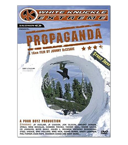 Propaganda Ski DVD Front Cover, 806923001397, Poor Boyz Productions