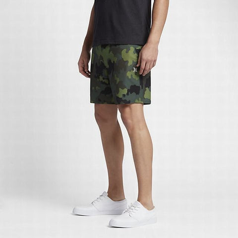 Hurley Alpha Trainer Plus Threat Board Shorts / Active Shorts - Camo Green