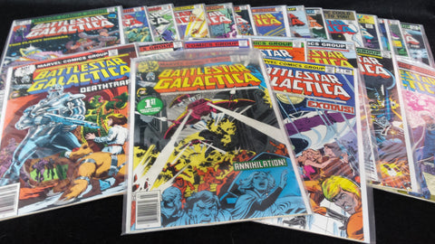 MARVEL COMICS-BATTLESTAR GALACTICA, COMPLETE RUN OF ALL 23 ISSUES, 1979-1981