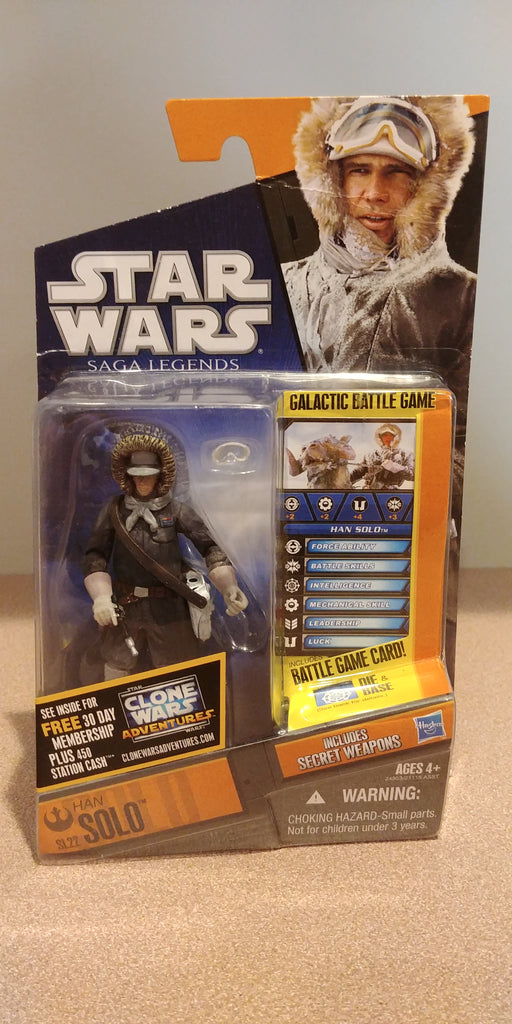 "Star Wars Saga Legends Han Solo (Hoth Gear) 3.75"" action figure"