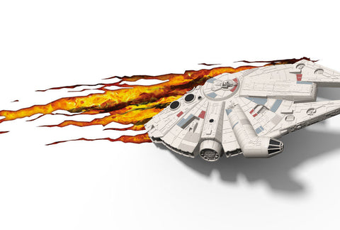 Star Wars Millenium Falcon 3D Deco Light with Crack Sticker