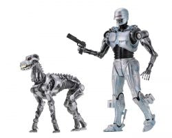 "RoboCop vs The Terminator – 7"" Scale Action Fig – EndoCop/Terminator Dog 2-Pack"