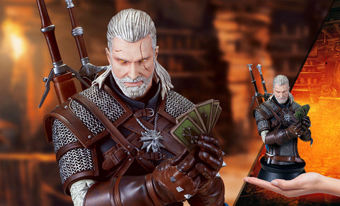 The Witcher 3:  Wild Hunt Geralt Playing Gwent Bust