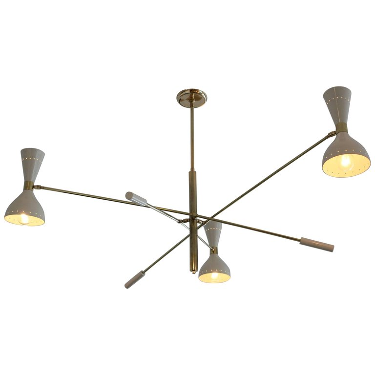 Italian Articulating Ceiling Light Orange Furniture Los Angeles - Italian light fixtures