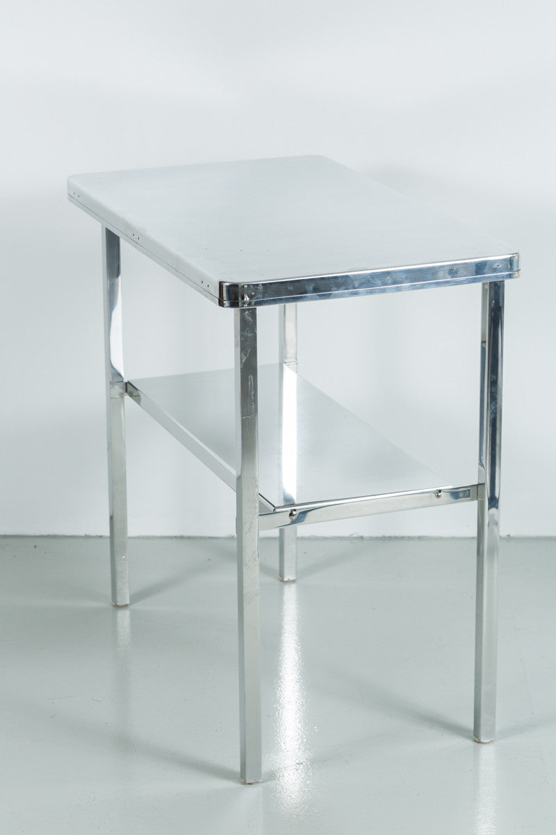 ... Pair Of Aluminum Campaign End Tables ...