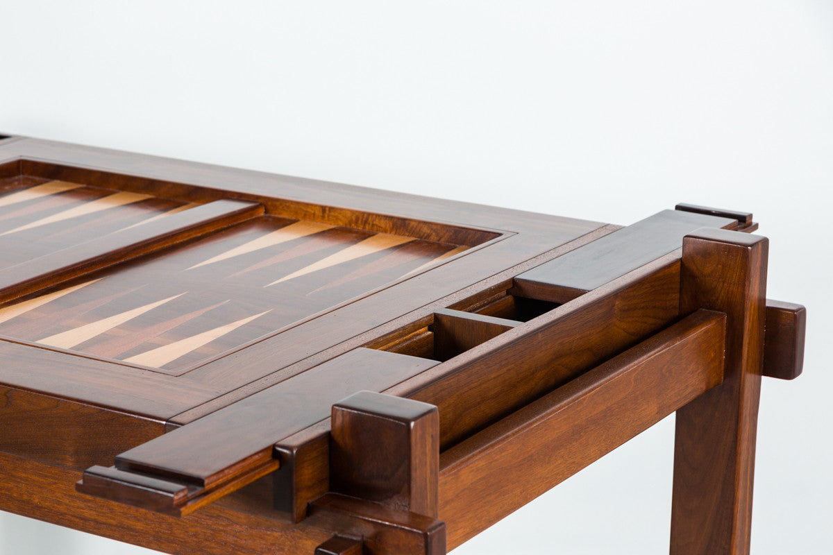 ... Walnut Wood Backgammon Table ...