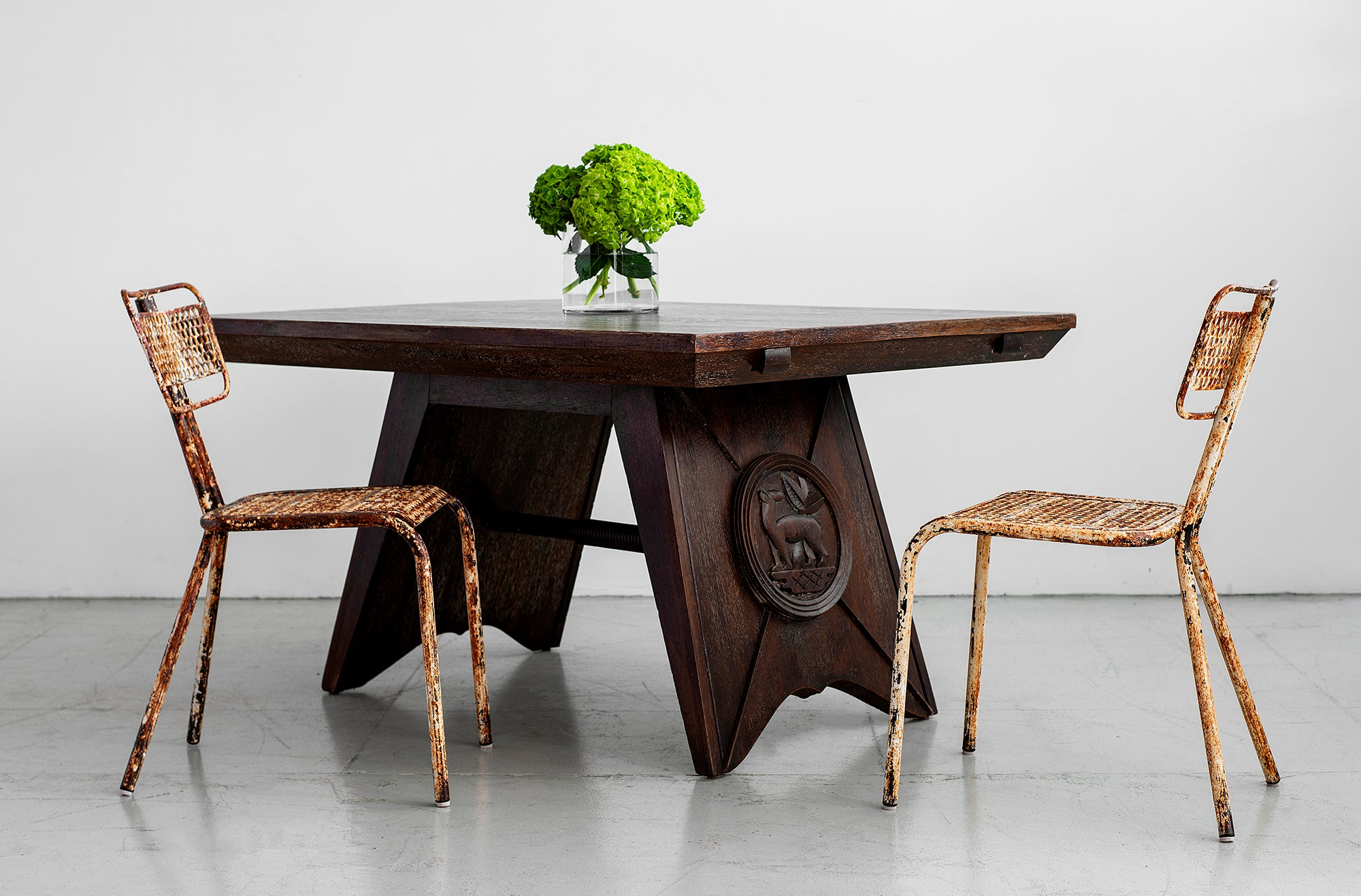 ... Charles Dudouyt Attributed Dining Table ...