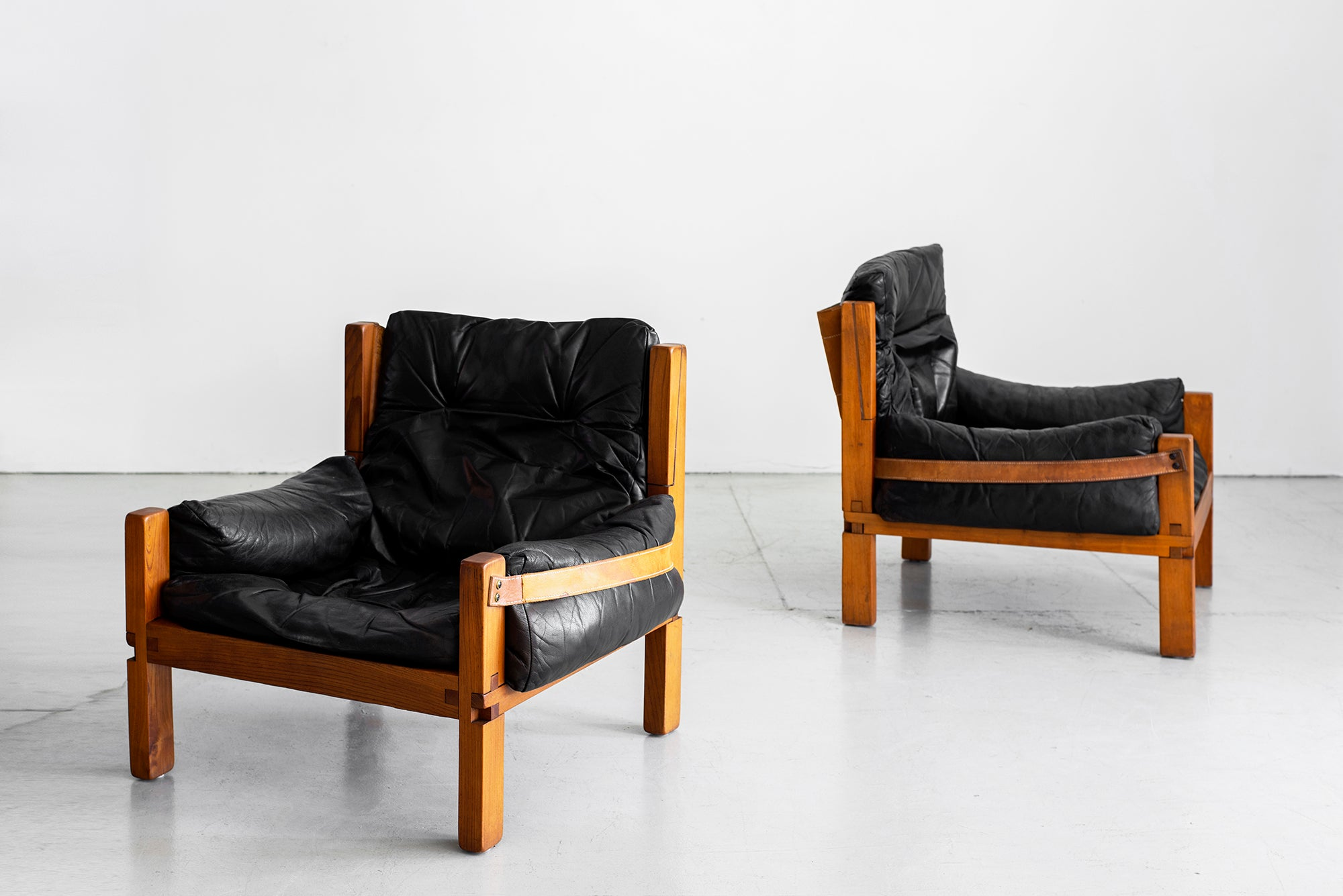 Outstanding Leather Club Chairs By Pierre Chapo Pdpeps Interior Chair Design Pdpepsorg