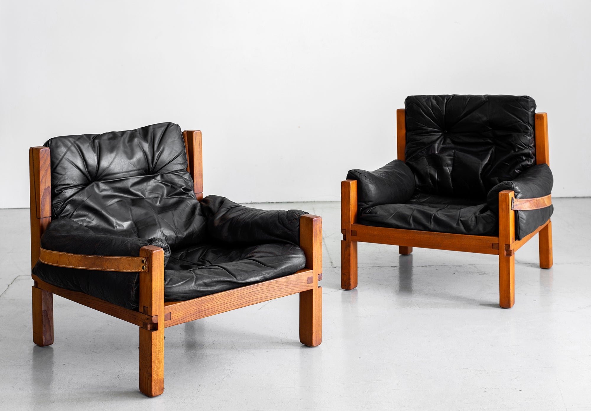 Astounding Leather Club Chairs By Pierre Chapo Pdpeps Interior Chair Design Pdpepsorg