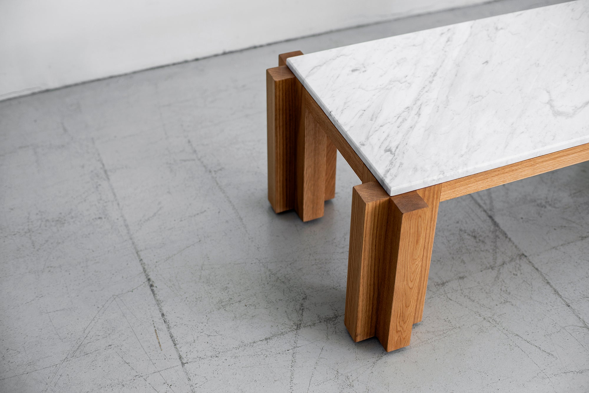 Brilliant Atelier Orange Oak And Marble Coffee Table Ncnpc Chair Design For Home Ncnpcorg