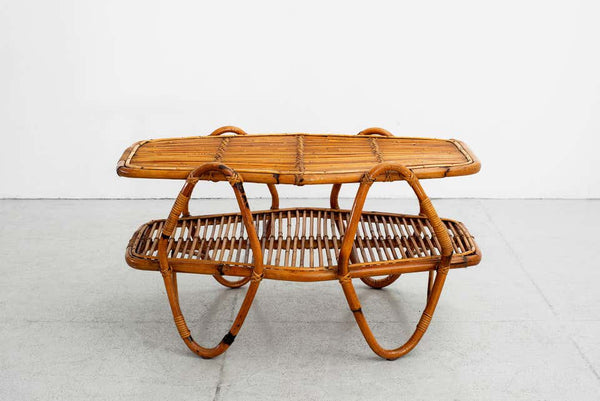 Italian Bamboo Coffee Table Orange Furniture Los Angeles