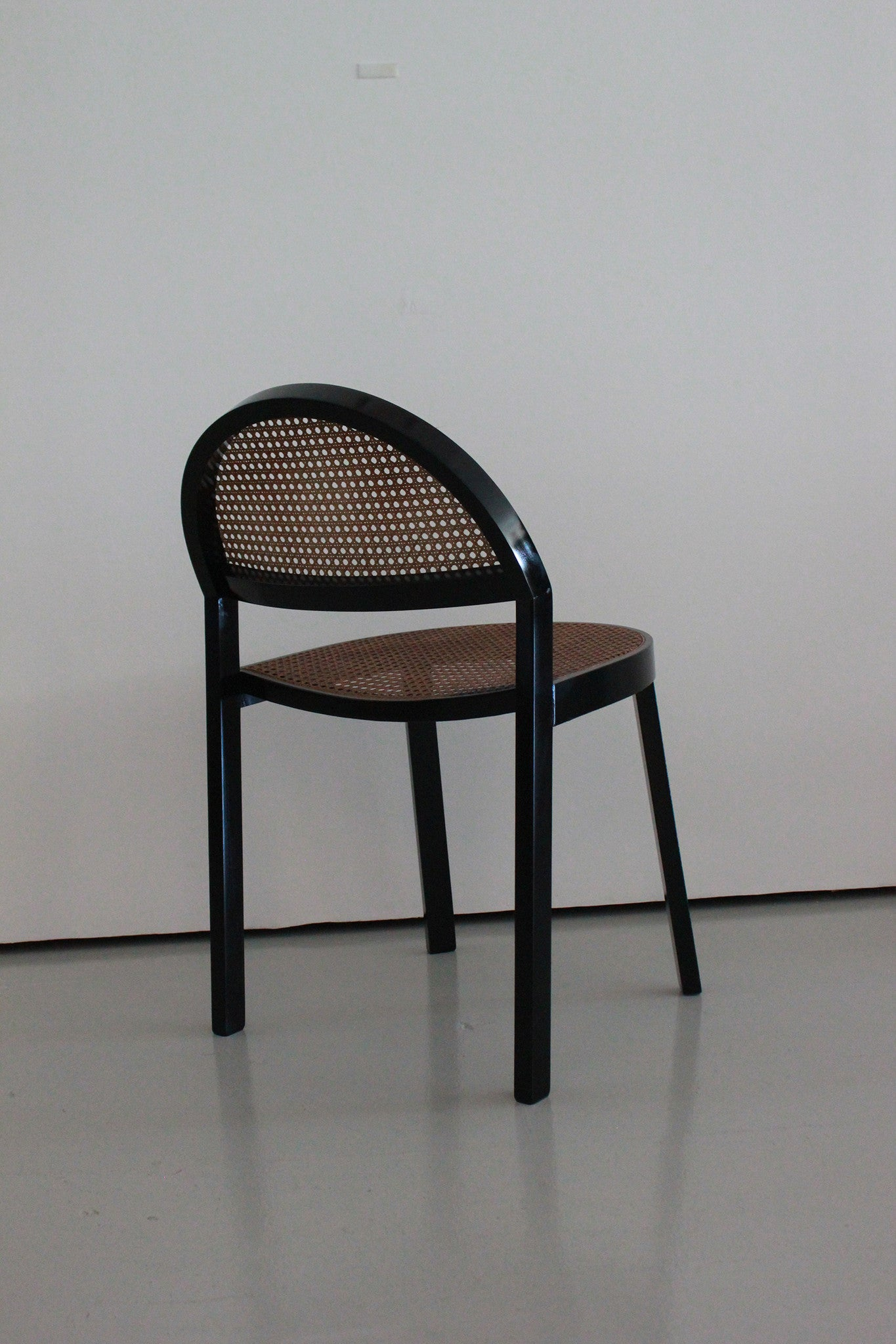 Black Wood Dining Chairs Set Of Six Black Wood And Caned Dining Chairs By Jonathan De Pas