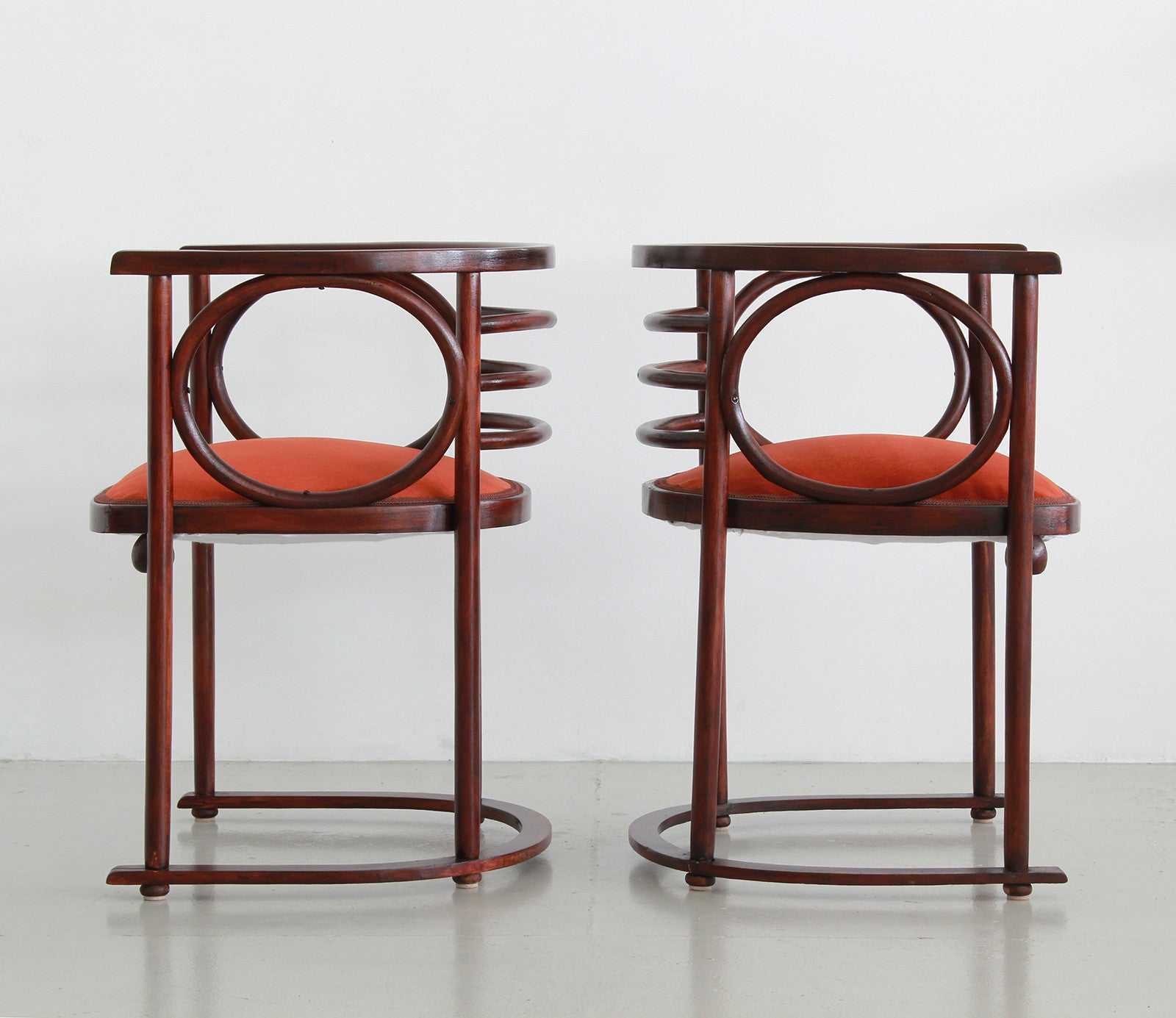 Exceptionnel ... Josef Hoffman Pair Of Fledermaus Chairs ...