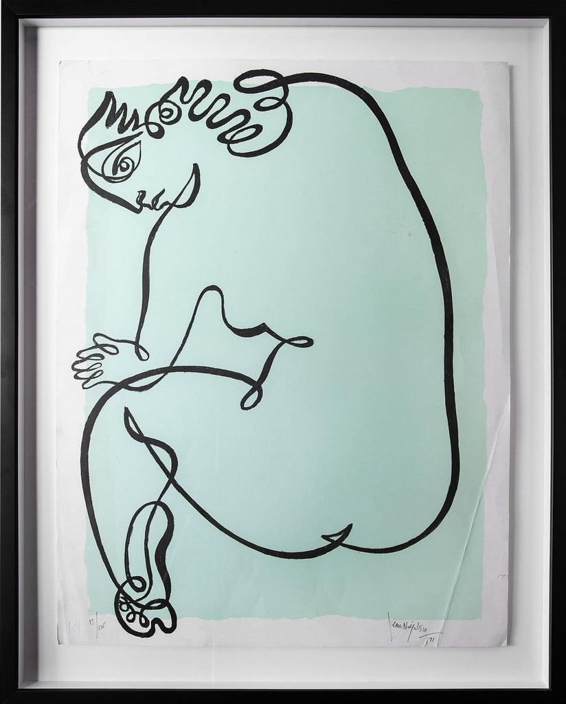 Jean Negulesco Continuous Line Drawings - Green