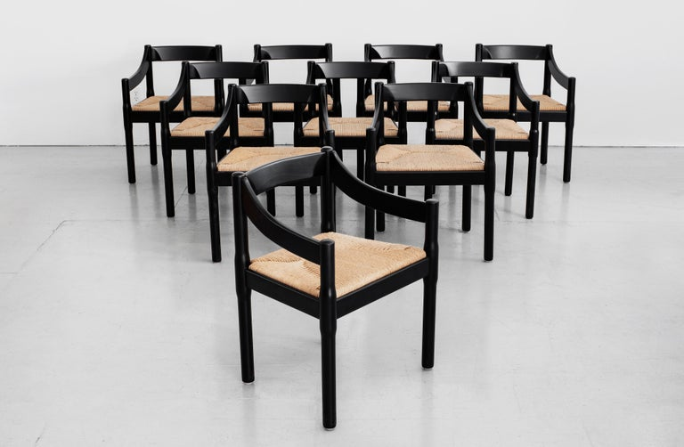 "Set of Vico Magistretti ""Carimate"" Chairs for Cassina"