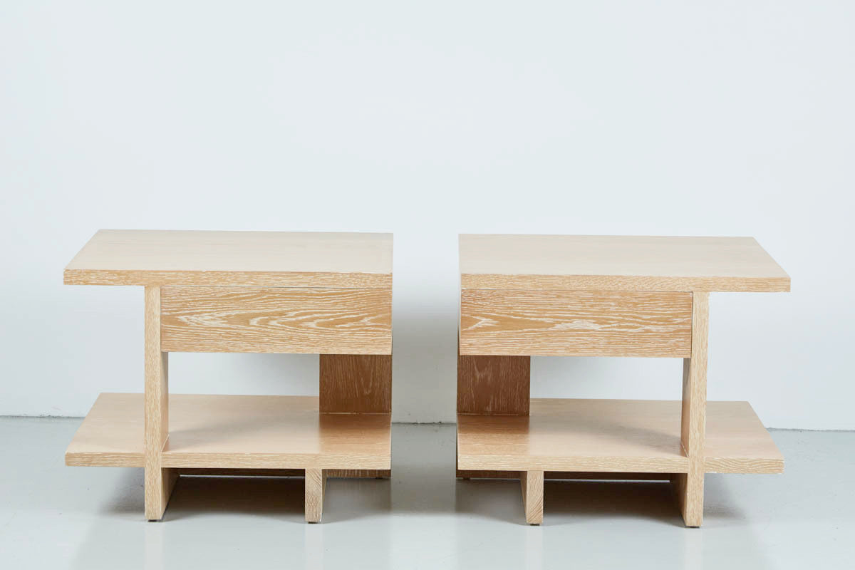 ... Fairfax Side Tables   Cerused Oak ...