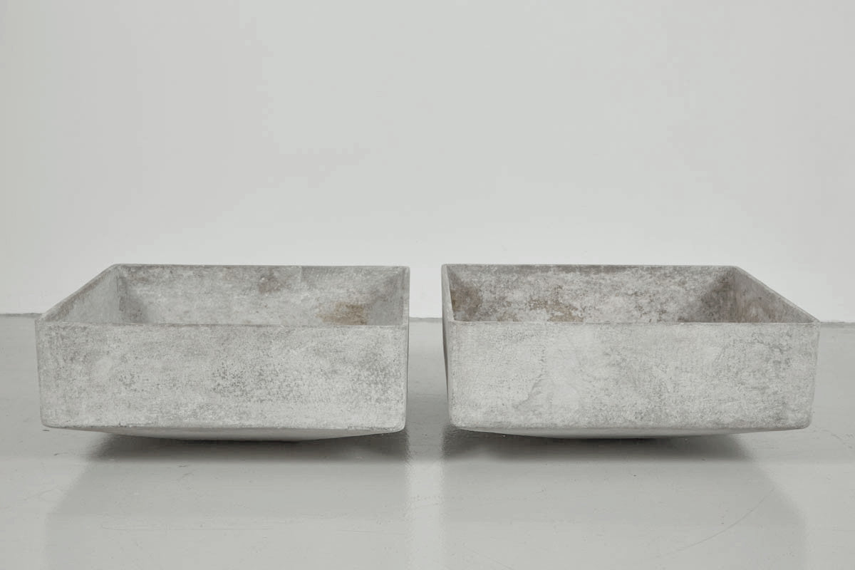 ... Willy Guhl Concrete And Resin Square Planters ...