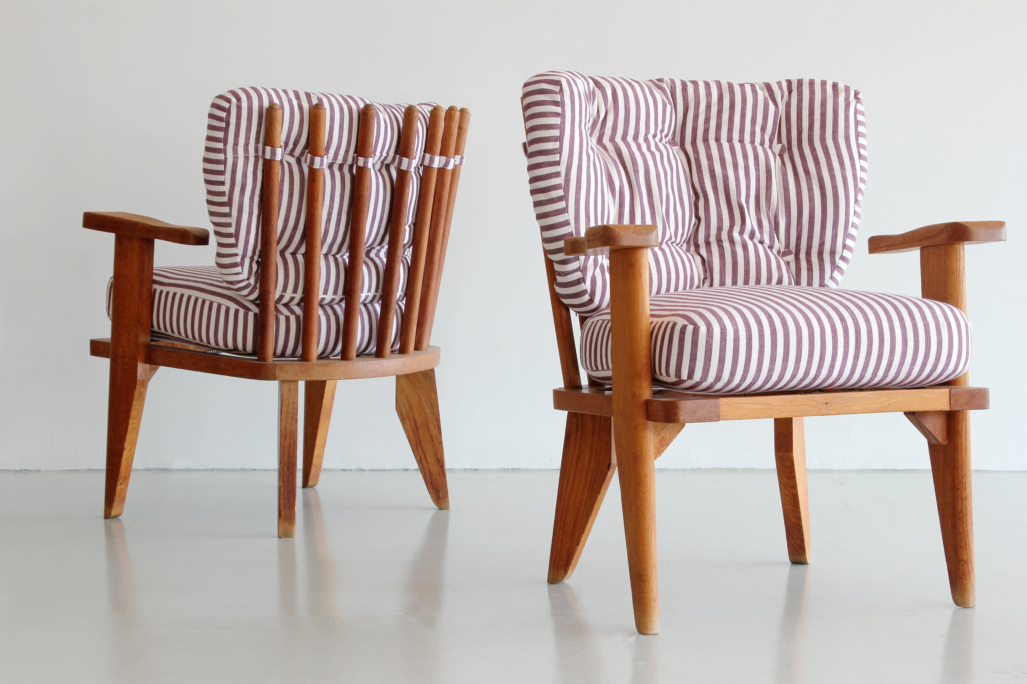 ... Pair Of Guillerme Et Chambron Lounge Chairs ...